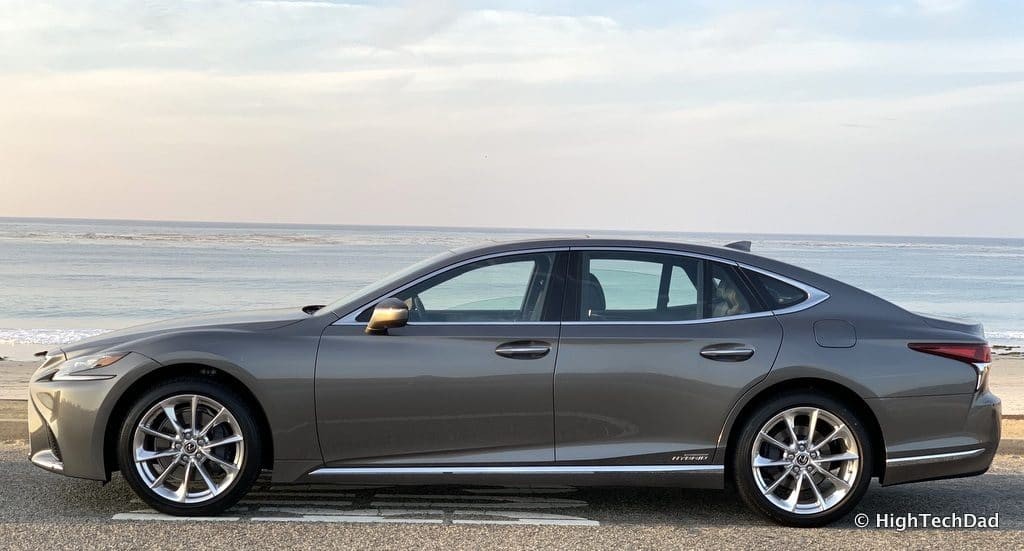 HighTechDad 2019 Lexus LS-500h review - side view