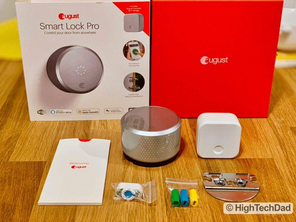 HighTechDad Review August Smart Lock Pro - what's in the box