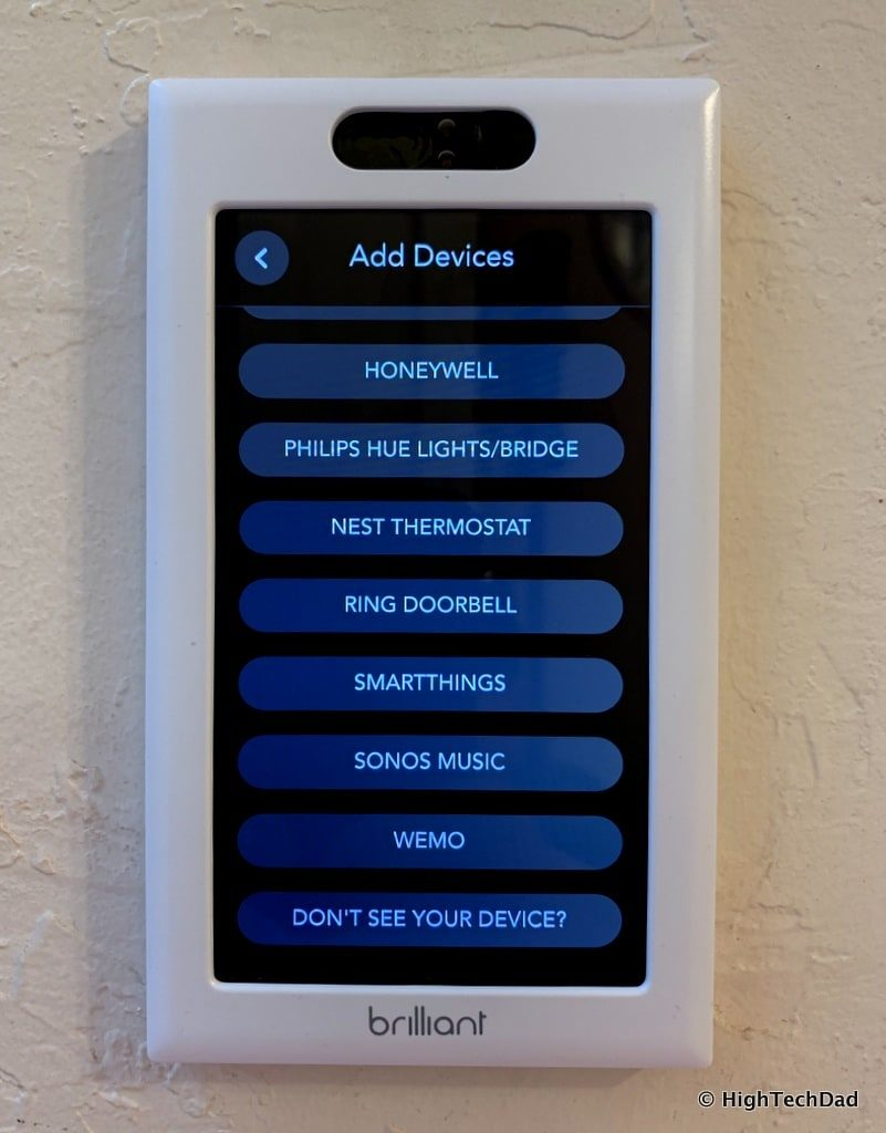 HighTechDad Brilliant Smart Switch Review - add devices
