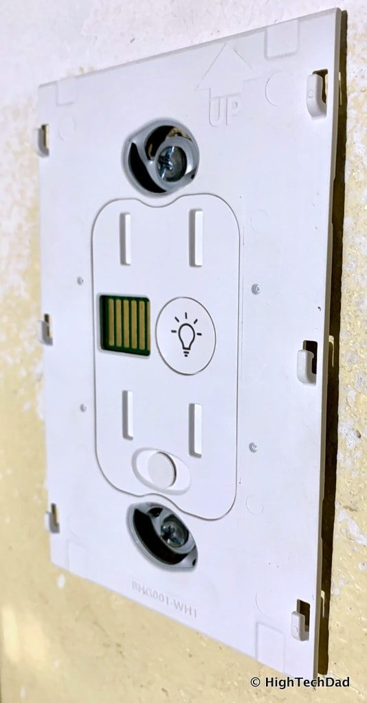 HighTechDad Brilliant Smart Switch Review - back plate installed