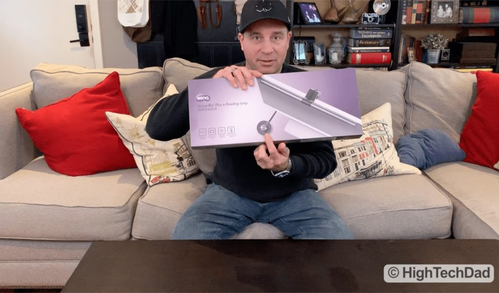 HighTechDad Video Review of BenQ ScreenBar Plus e-Reading LED Lamp - product package