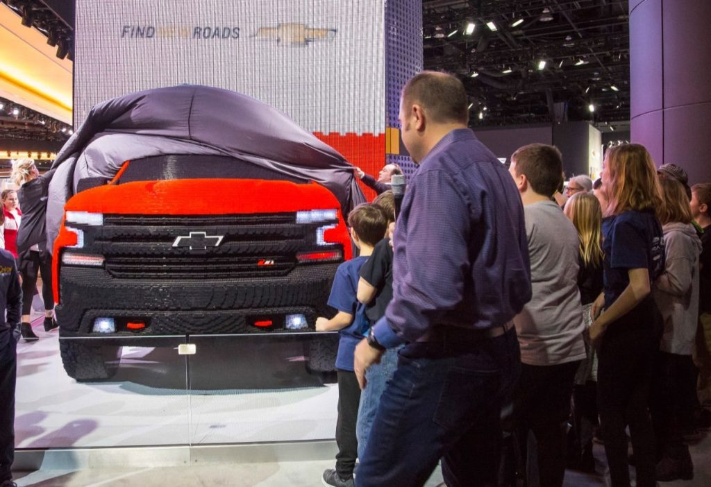 Chevy Silverado LEGO model with 334,544 LEGO pieces - the reveal!
