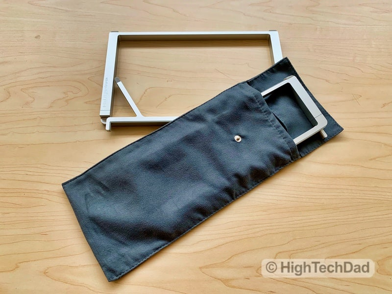 HighTechDad Reviews Rain Design mBar Pro, mBar Pro+, & mStand - folded and in bag