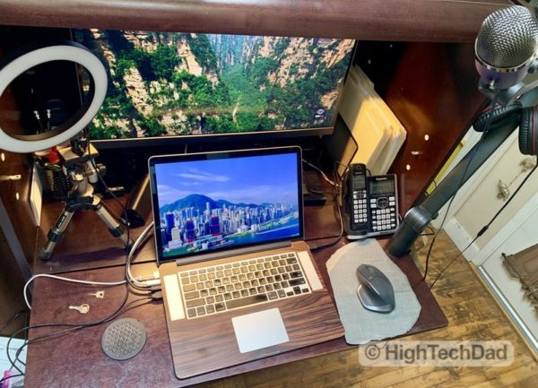 HighTechDad BenQ PD2700U monitor review - small workspace