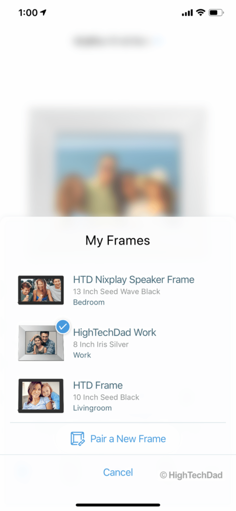 HighTechDad Nixplay Seed Wave review - various frames