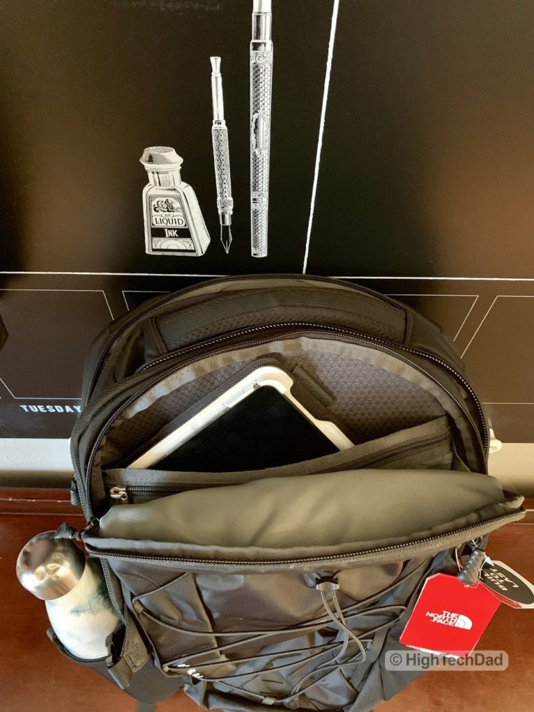 HighTechDad Backpacks.com The North Face Borealis backpack review - tablet compartment