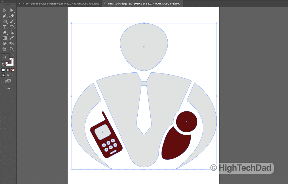 HTD adobe illustrator HTD logo - HighTechDad™
