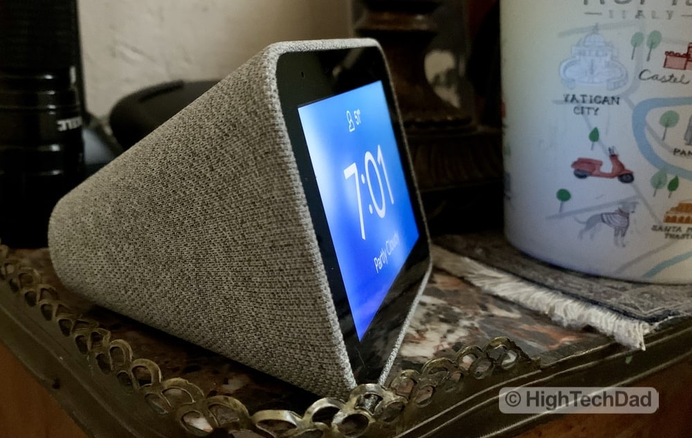 HighTechDad Review of Lenovo Smart Clock - side view