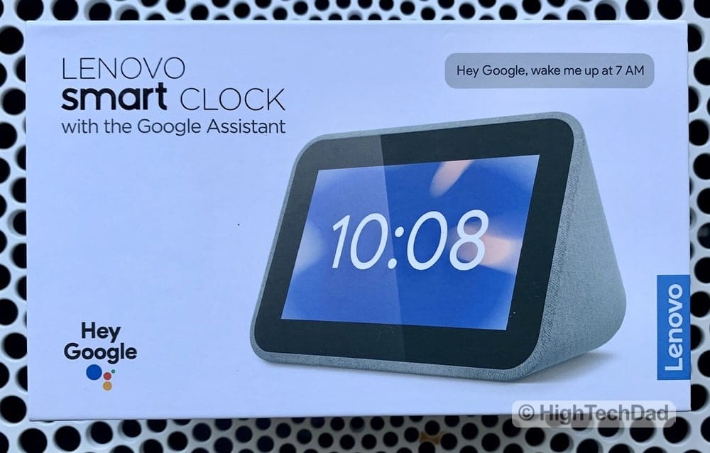 HighTechDad Review of Lenovo Smart Clock - in the box