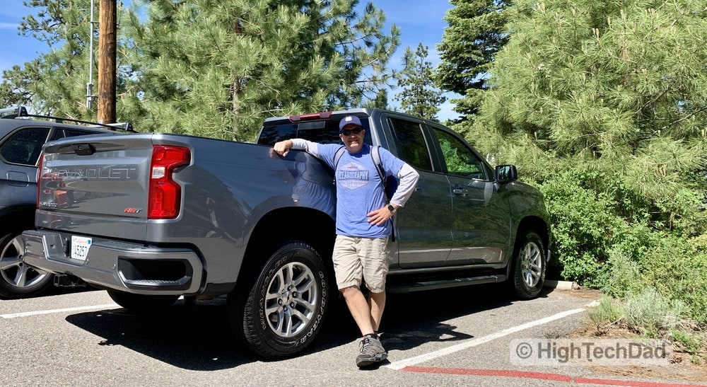 HighTechDad Review 2019 Chevy Silverado - standing by the truck