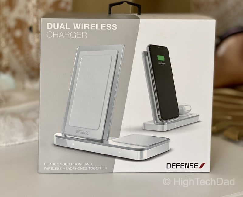 HighTechDad review - Defense Vertical Duo wireless charger - in box