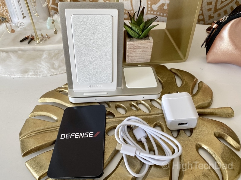 HighTechDad review - Defense Vertical Duo wireless charger - in my daughters' room