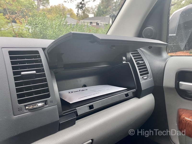 HighTechDad, Toyota Season of Giving & the 2019 Toyota Sequoia - glove compartment storage