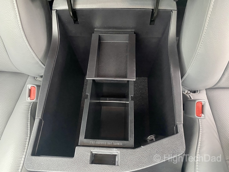 HighTechDad, Toyota Season of Giving & the 2019 Toyota Sequoia - center console
