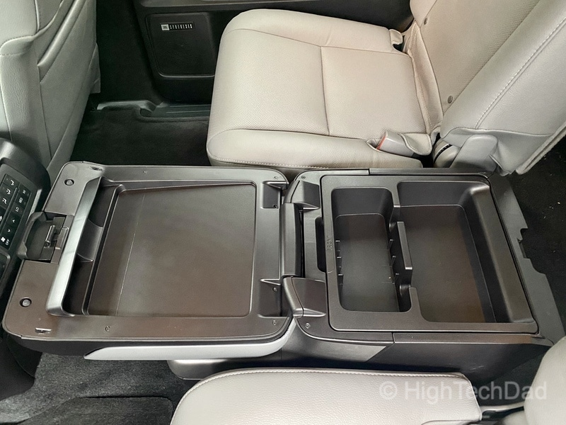 HighTechDad, Toyota Season of Giving & the 2019 Toyota Sequoia - rear console