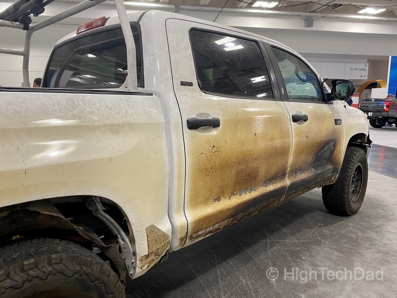 "HighTechDad, Toyota Season of Giving & the 2019 Toyota Sequoia - side view of the ""Panda"""