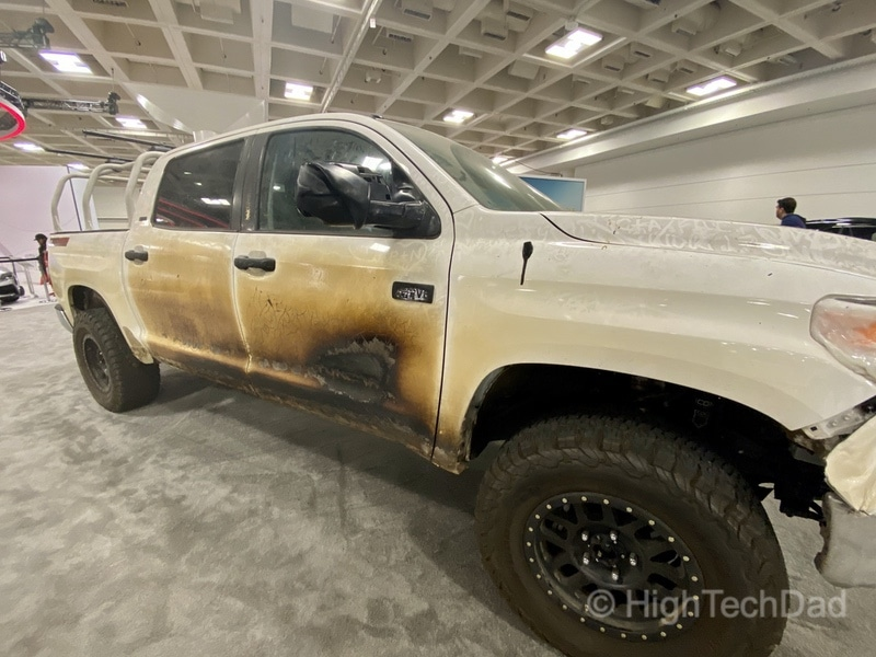 HighTechDad, Toyota Season of Giving & the 2019 Toyota Sequoia - front burned