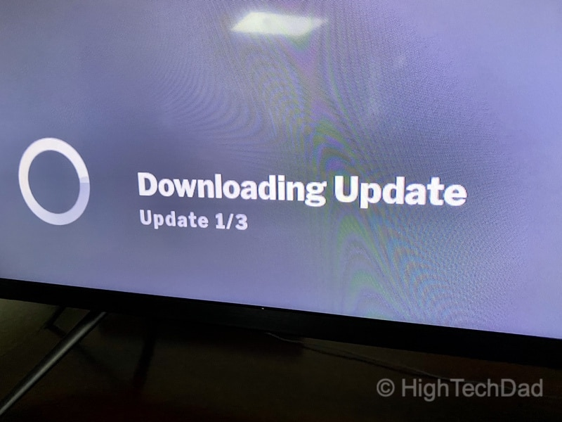 HighTechDad Review: VIZIO M-Series 4K TV - downloading updates