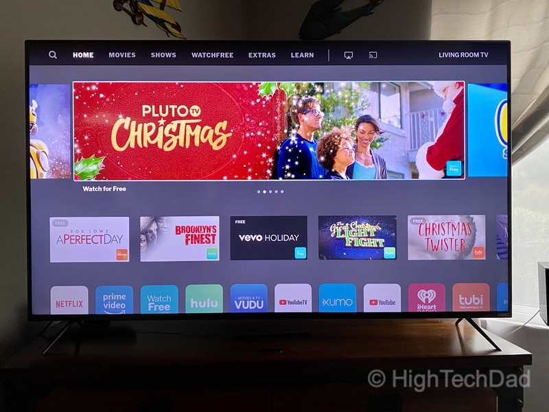 HighTechDad Review: VIZIO M-Series 4K TV - home screen