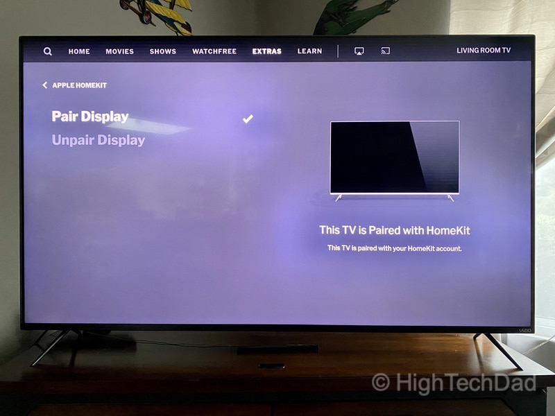 HighTechDad Review: VIZIO M-Series 4K TV - HomeKit pairing