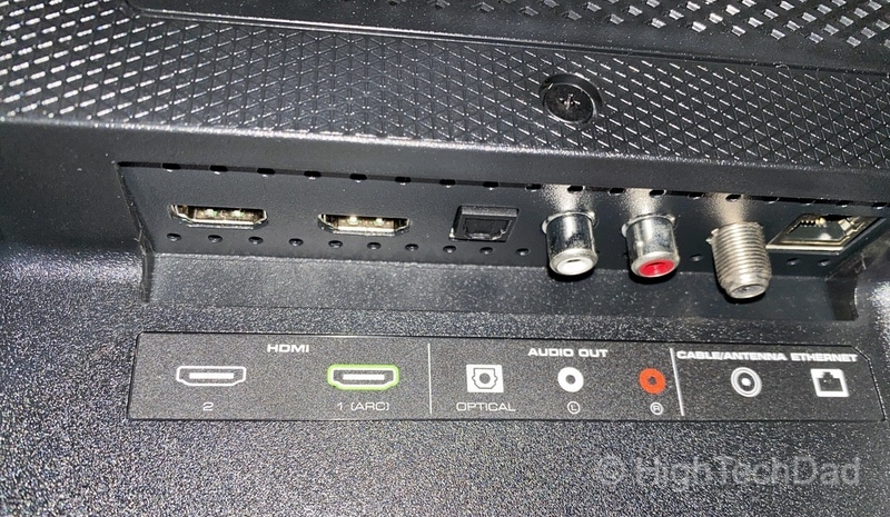 HighTechDad Review: VIZIO M-Series 4K TV - HDMI and optical ports