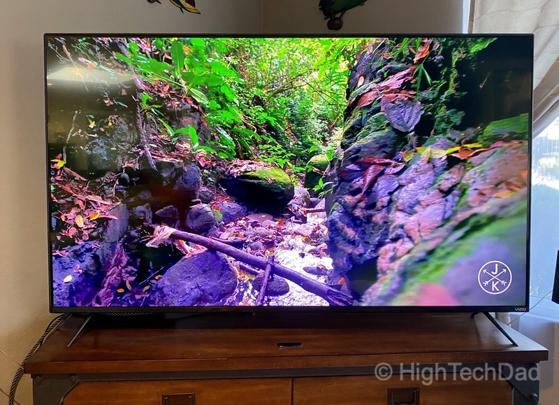 HighTechDad Review: VIZIO M-Series 4K TV - vivid color setting