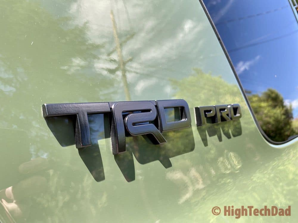 HighTechDad reviews 2020 Toyota 4Runner TRD Pro - TRD Pro Emblem