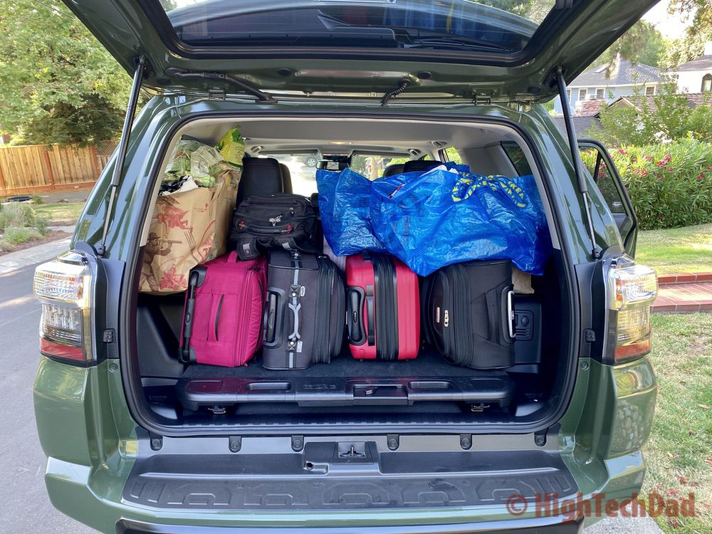 HighTechDad reviews 2020 Toyota 4Runner TRD Pro - all packed up