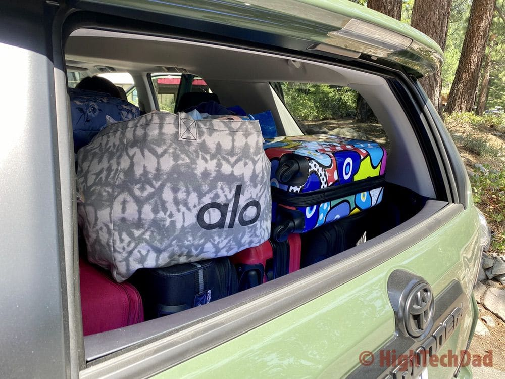 HighTechDad reviews 2020 Toyota 4Runner TRD Pro - full storage