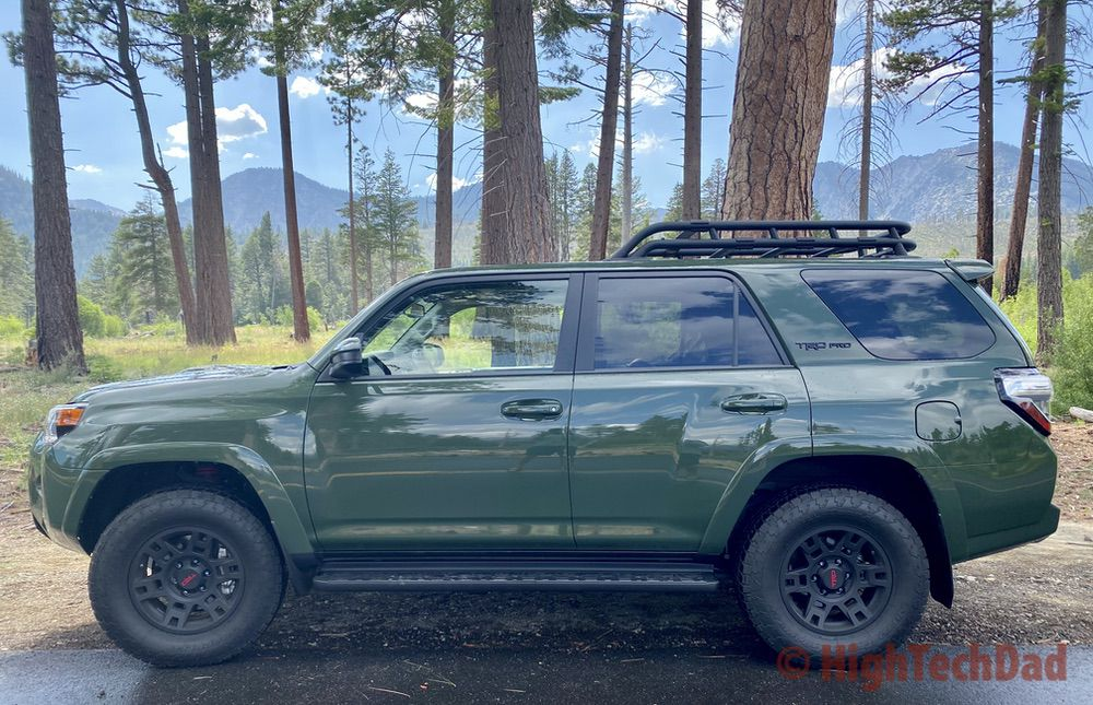 HighTechDad reviews 2020 Toyota 4Runner TRD Pro - by the lake