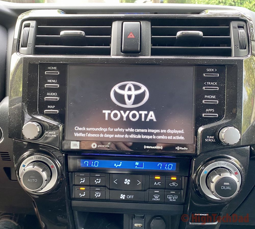 HighTechDad reviews 2020 Toyota 4Runner TRD Pro - the entertainment system