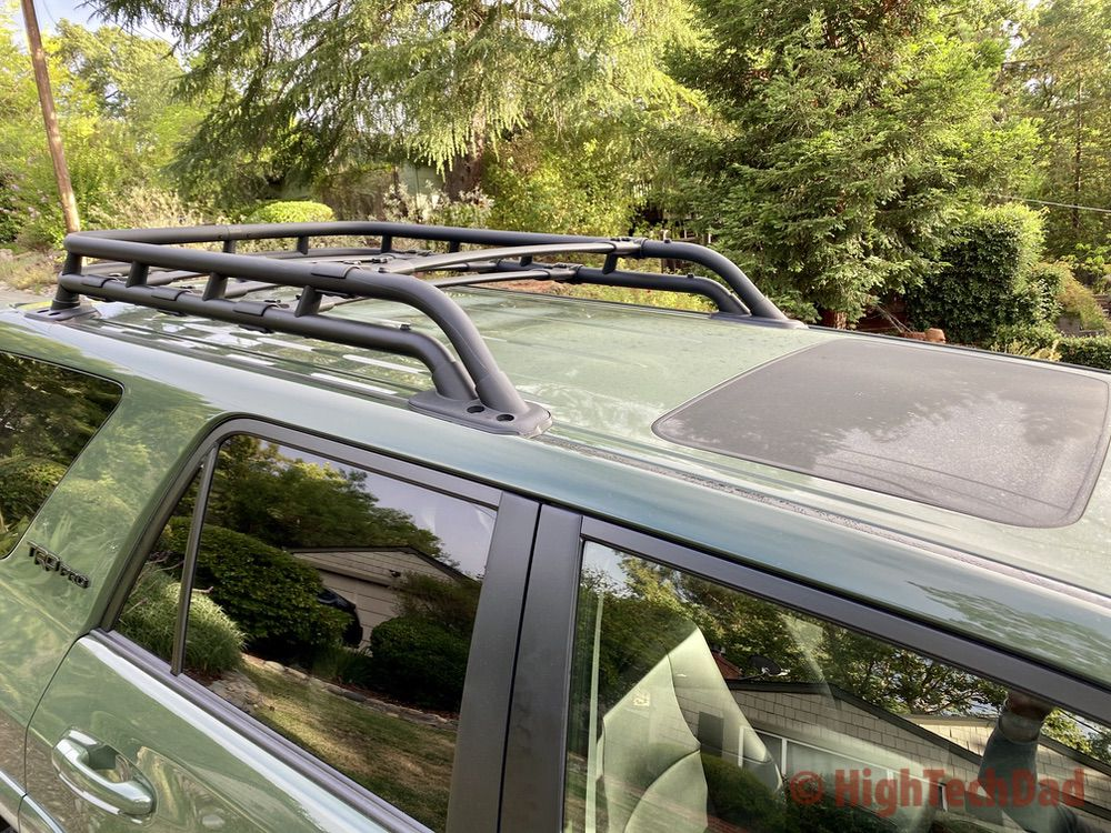 HighTechDad reviews 2020 Toyota 4Runner TRD Pro - roof rack