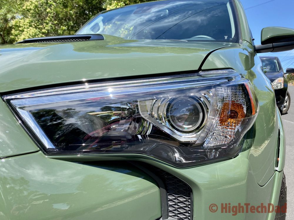 HighTechDad reviews 2020 Toyota 4Runner TRD Pro - front headlight