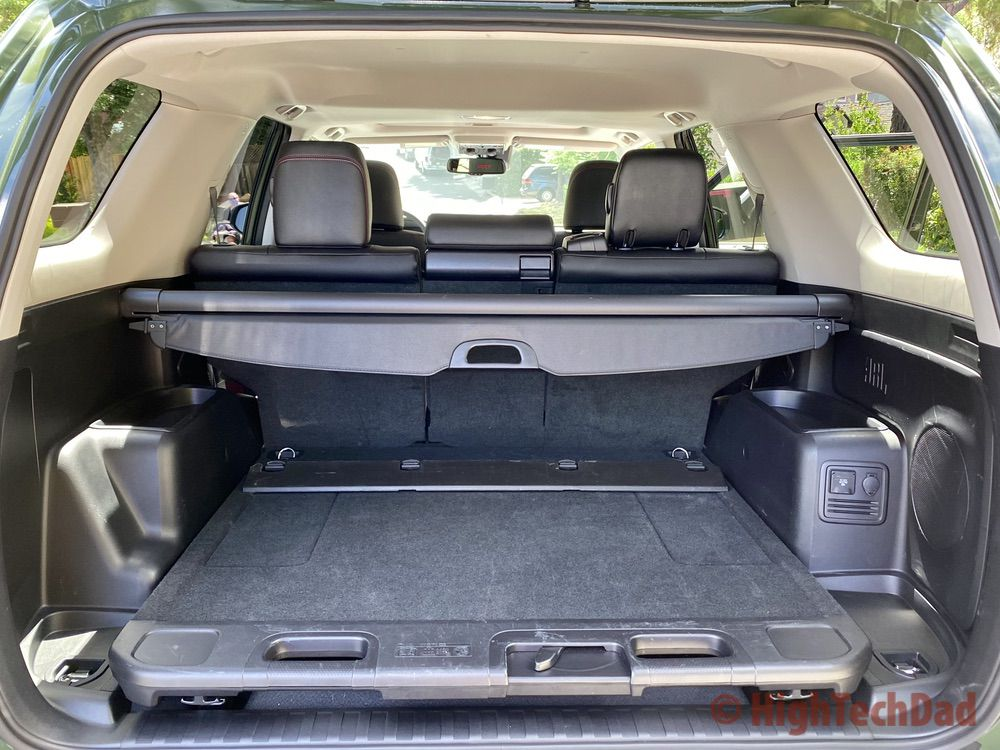 HighTechDad reviews 2020 Toyota 4Runner TRD Pro - sliding cargo deck