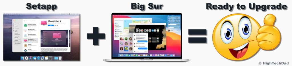 HighTechDad recommends using apps from Setapp to get your Mac ready for macOS 11 / Big Sur!