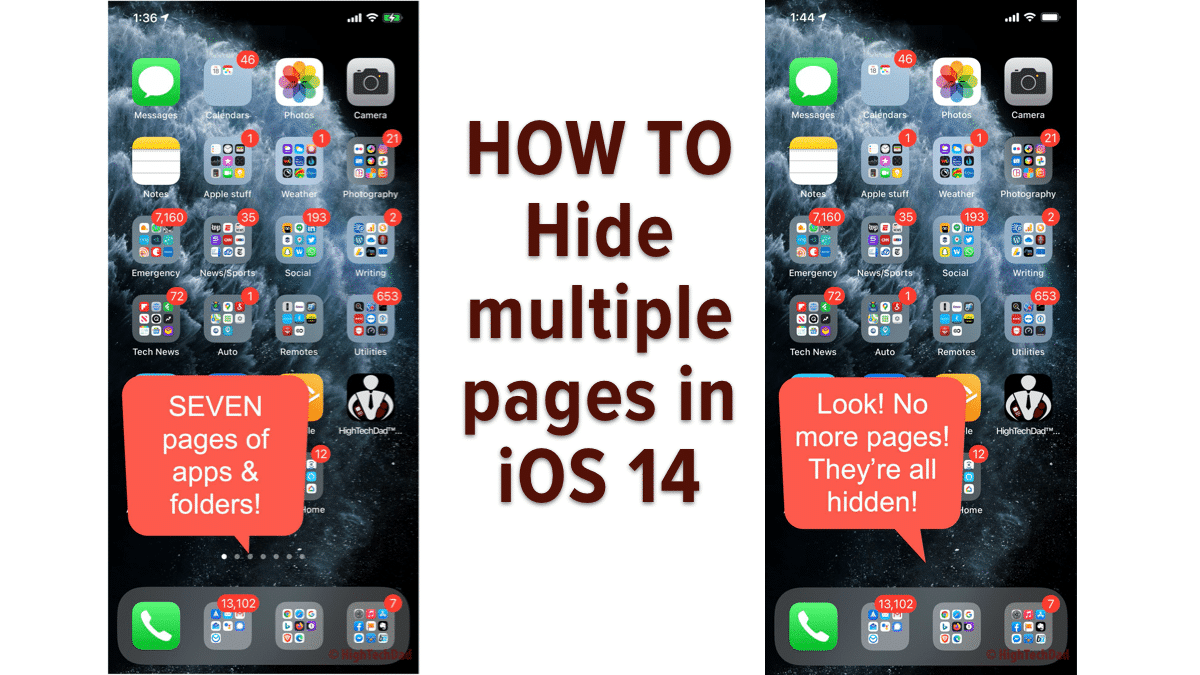 How To Hide Multiple Pages in iOS 14