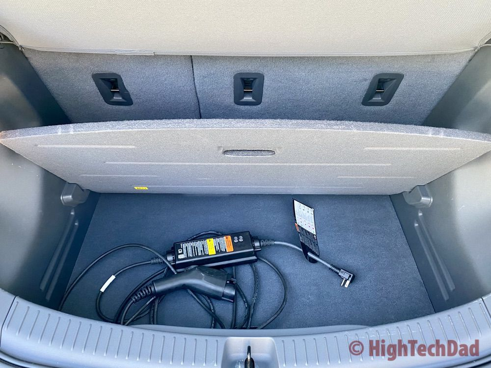 Cargo and hidden storage with charger for the Chevy Bolt