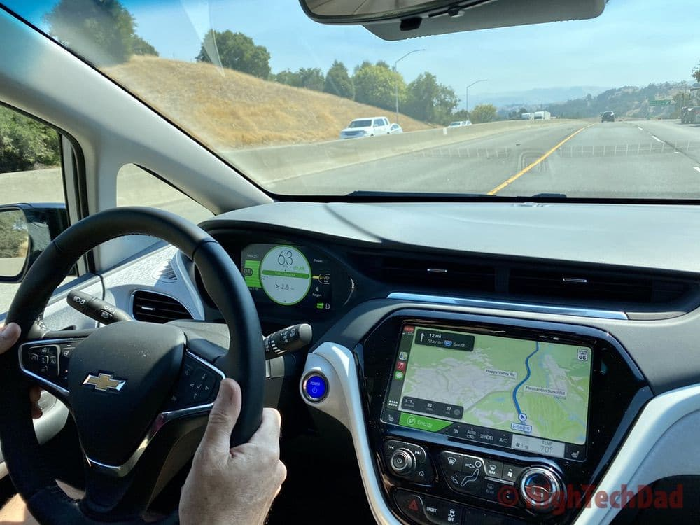 HighTechDad on the highway in the 2020 Chevy Bolt