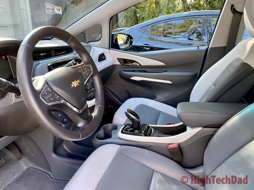 HighTechDad - Front seat of the Chevy Bolt