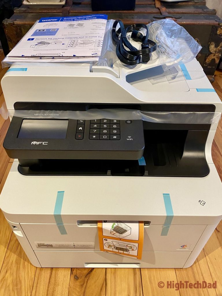 What's in the box of the Brother MFC-L3770CDW printer