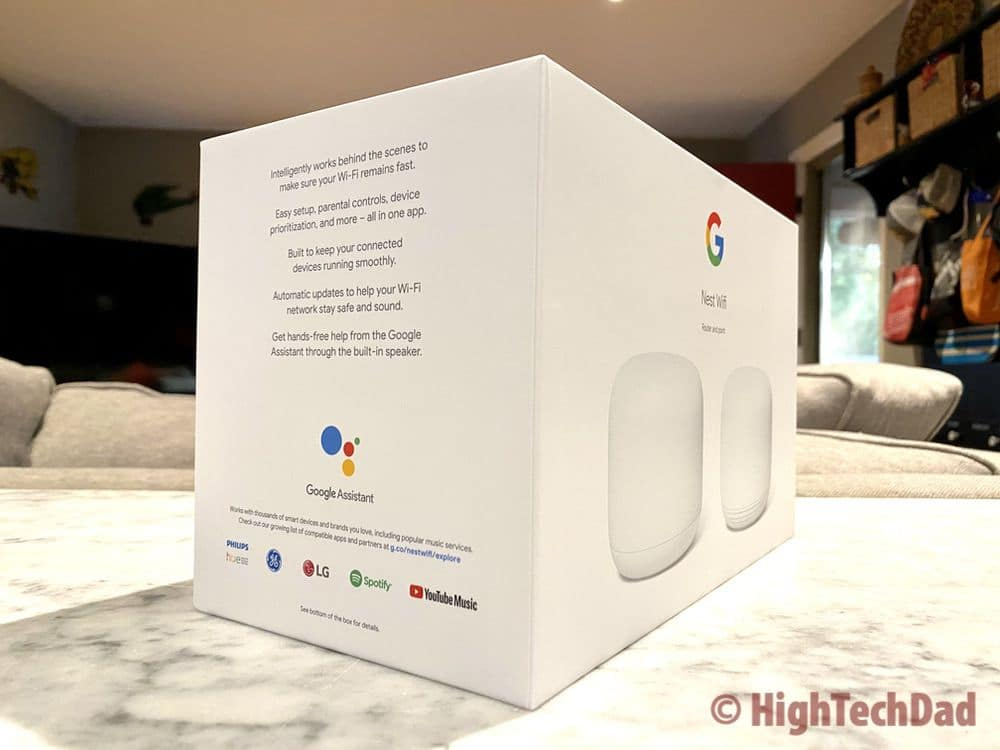 Side of the Nest Wifi box - HighTechDad review