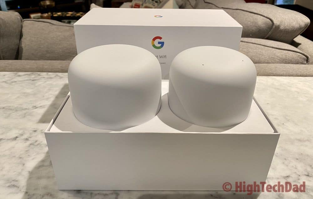 HighTechDad Review - Nest Wifi in the box