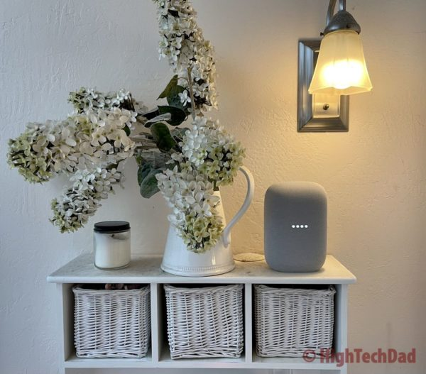HighTechDad review of Nest Audio Smart Speaker
