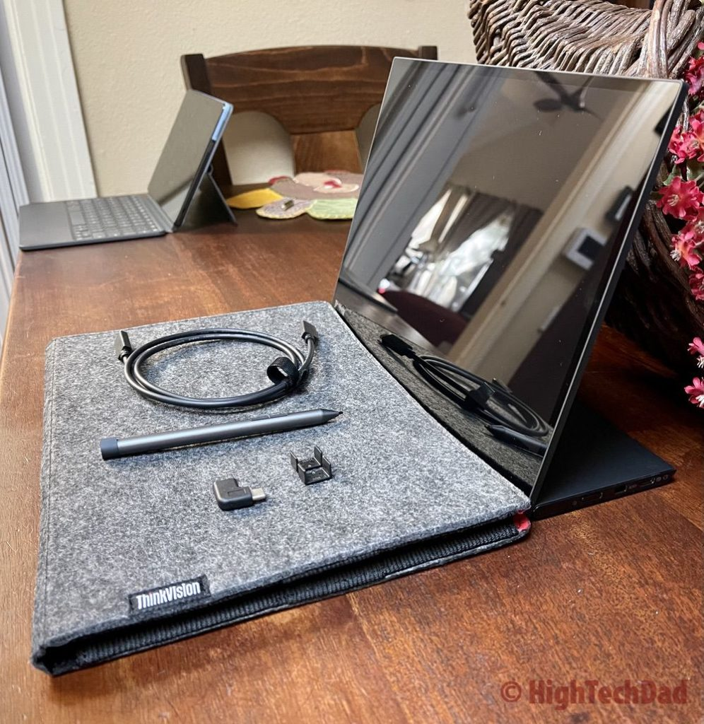 HighTechDad review - Lenovo ThinkVision M14t Touch Screen Portable Display