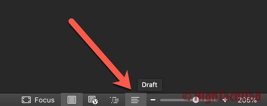 Click draft icon - How to Convert footnotes to endnotes - HighTechDad