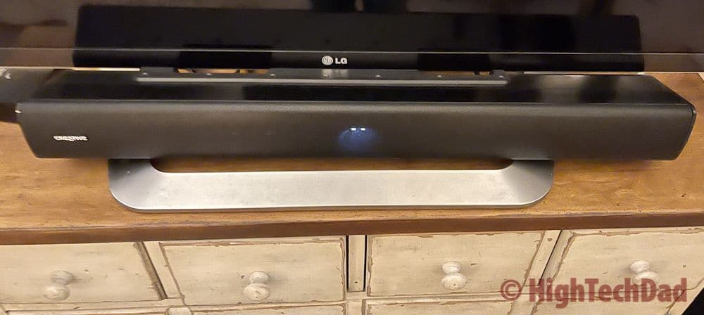 Under the TV - Creative Stage V2 soundbar - HighTechDad review
