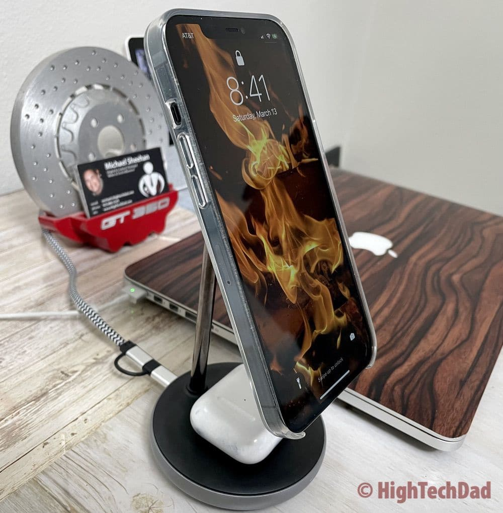 Portrait mode - HyperJuice Magnetic Wireless Charging Stand - HighTechDad review