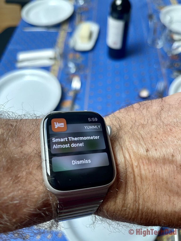 Apple Watch notification - Yummly Smart Thermometer - HighTechDad review