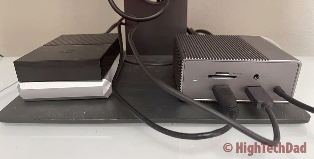 2 hard drives and more connected - HyperDrive 12-port USB-C Docking Station - HighTechDad review