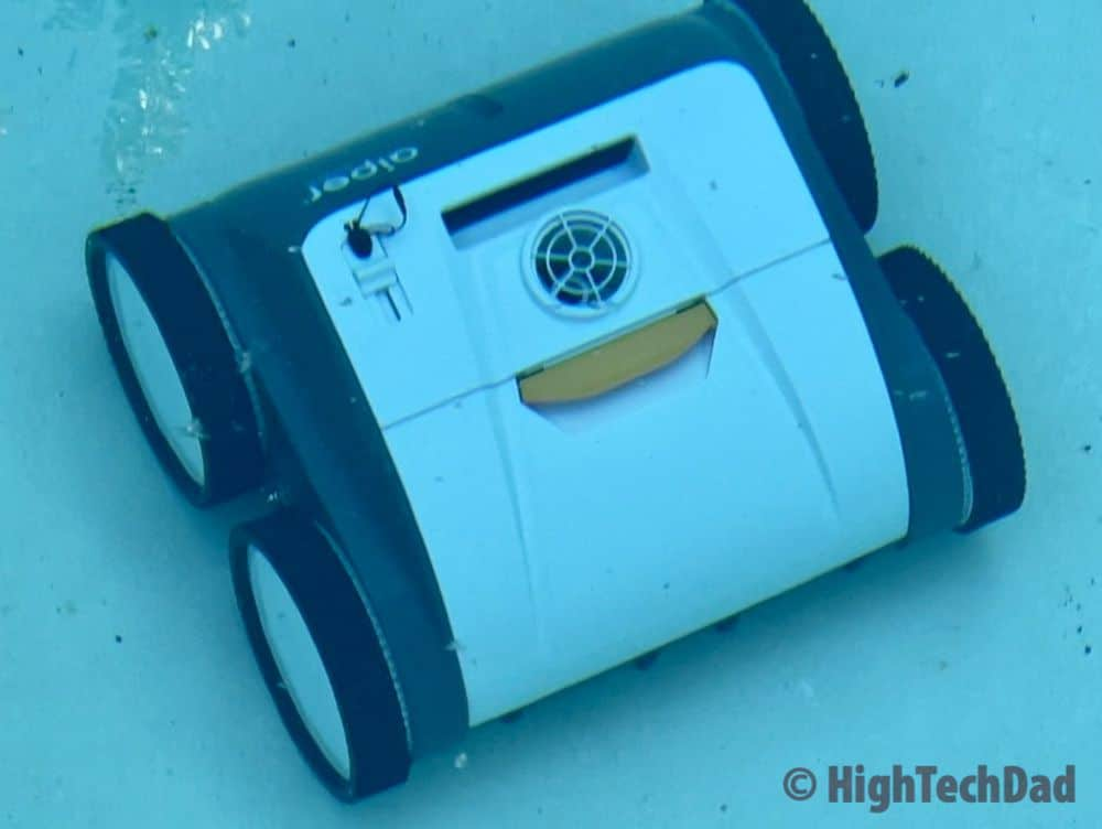 In the water - Aiper Smart AIPURY1500 pool robot cleaner - HighTechDad review